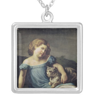 Portrait of Louise Vernet as a Child, 1818-19 Silver Plated Necklace