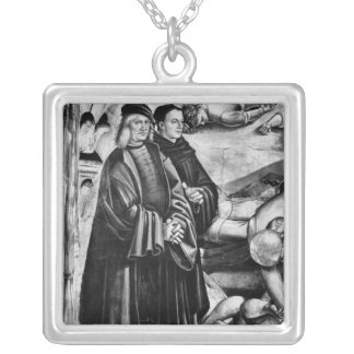 Portrait of Luca Signorelli and Fra Angelico Silver Plated Necklace
