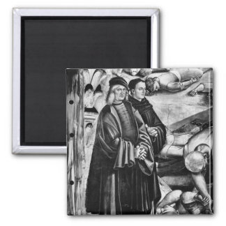 Portrait of Luca Signorelli and Fra Angelico Square Magnet