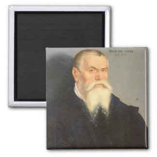 Portrait of Lucas Cranach the Elder (1472-1553) 15 Square Magnet