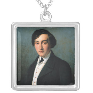 Portrait of Lucien Petipa  1849 Silver Plated Necklace