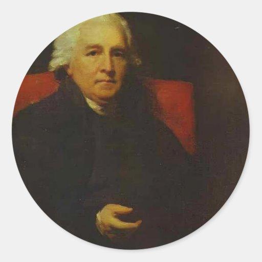 Portrait of Lucius O'Beirne by Henry Raeburn Round Sticker
