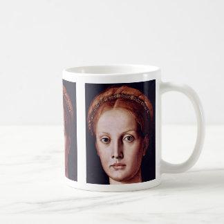 Portrait Of Lucrezia Panciatichi Detail Basic White Mug