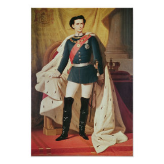 Portrait of Ludwig II of Bavaria in uniform Poster