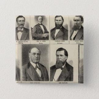 Portrait of Lumber Dealers, Minnesota 15 Cm Square Badge