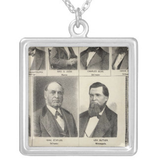 Portrait of Lumber Dealers, Minnesota Silver Plated Necklace