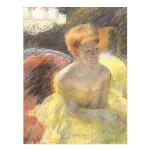 Portrait of Lydia at the Opera by Mary Cassatt Post Cards