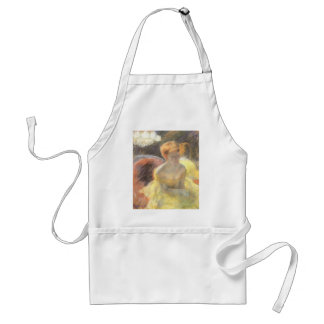 Portrait of Lydia at the Opera by Mary Cassatt Standard Apron