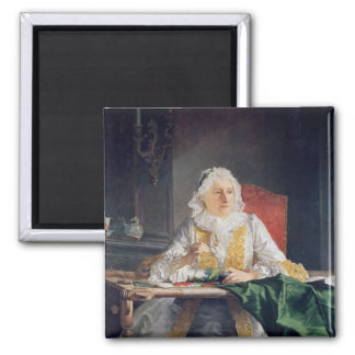 Portrait of Madame Antoine Crozat, 1741 Square Magnet