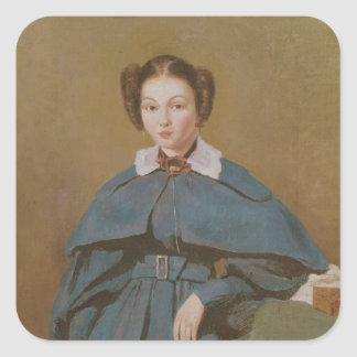 Portrait of Madame Baudot, the Artist's Niece Square Sticker