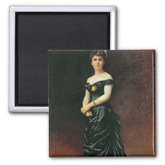 Portrait of Madame Bishoffsheim, 1877 Square Magnet