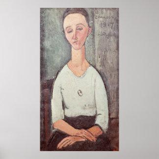 Portrait of Madame Chakowska, 1917 Poster