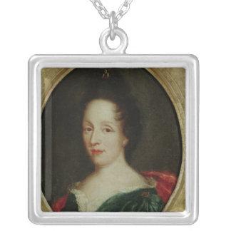 Portrait of Madame Champmesle Square Pendant Necklace
