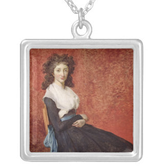 Portrait of Madame Charles-Louis Trudaine Silver Plated Necklace