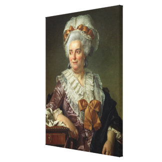 Portrait of Madame Charles-Pierre Pecoul, nee Pota Canvas Print