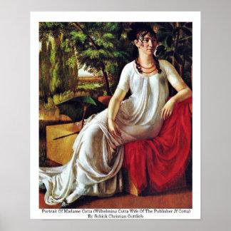 Portrait Of Madame Cotta (Wilhelmina Cotta Poster