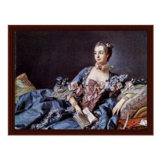 Portrait Of Madame De Pompadour Postcard