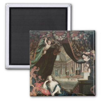 Portrait of Madame de reclining in front Square Magnet