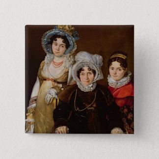 Portrait of Madame de Tangry 15 Cm Square Badge
