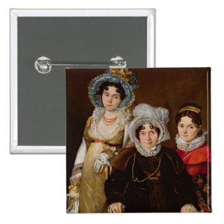 Portrait of Madame de Tangry 15 Cm Square Badge