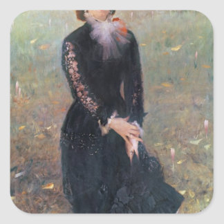 Portrait of Madame Edouard Pailleron, 1879 Square Sticker