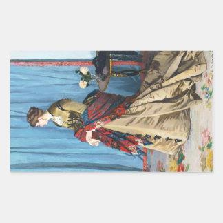 Portrait of Madame Gaudibert Claude Monet Stickers