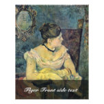 Portrait Of Madame Gauguin In Evening Dress Flyer Design