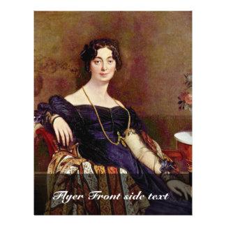 Portrait Of Madame Leblanc By Ingres Jean Auguste Flyer