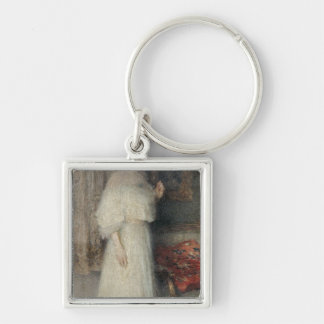 Portrait of Madame Masson Silver-Colored Square Key Ring