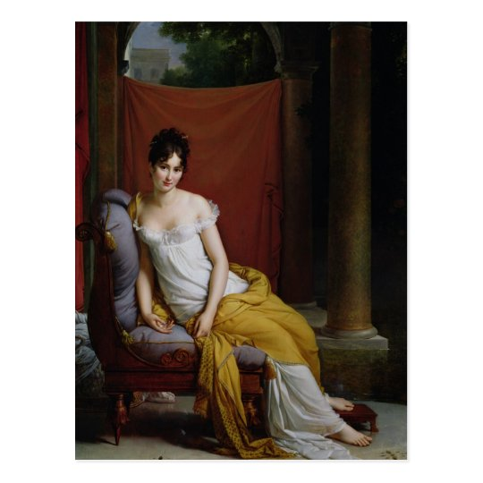 Portrait of Madame Recamier Postcard