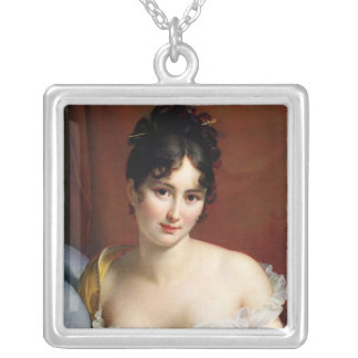 Portrait of Madame Recamier Silver Plated Necklace