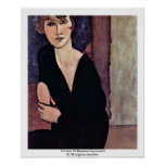 Portrait Of Madame Reynouard By Modigliani Amedeo Poster