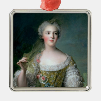 Portrait of Madame Sophie Silver-Colored Square Decoration