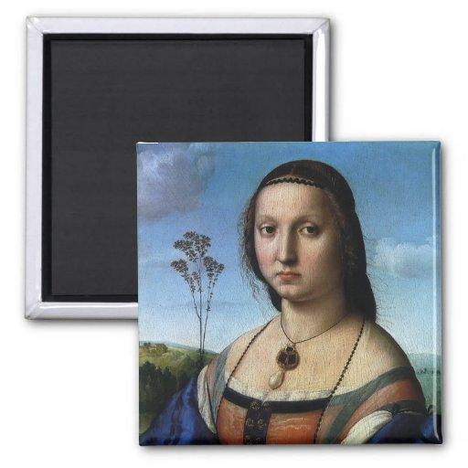 Portrait of Maddalena Doni by Raphael or Raffaello Magnet