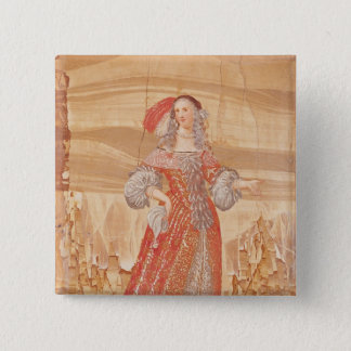 Portrait of Madeleine Bejart  in role of 15 Cm Square Badge