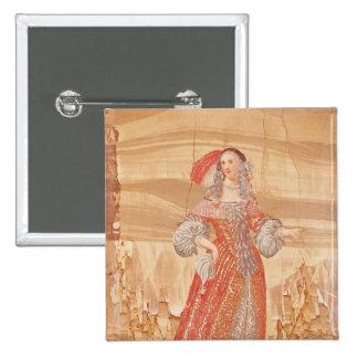 Portrait of Madeleine Bejart  in role of 15 Cm Square Badge