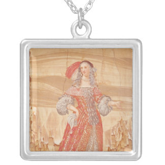 Portrait of Madeleine Bejart  in role of Square Pendant Necklace