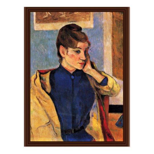 Portrait Of Madeleine Bernard By Gauguin Paul Postcard