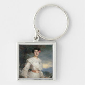 Portrait of Madeleine Reclus, 1902 Silver-Colored Square Key Ring