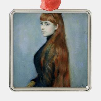 Portrait of Mademoiselle Alice Guerin Silver-Colored Square Decoration