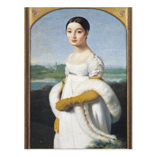 Portrait of Mademoiselle Caroline Riviere  1805 Postcard