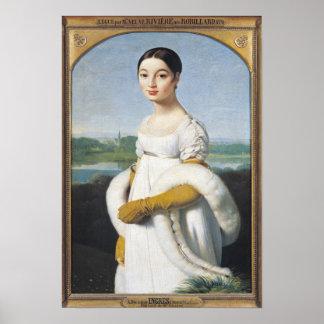 Portrait of Mademoiselle Caroline Riviere  1805 Print