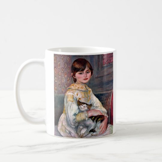 Portrait of Mademoiselle Julie Manet by Renoir Coffee Mug