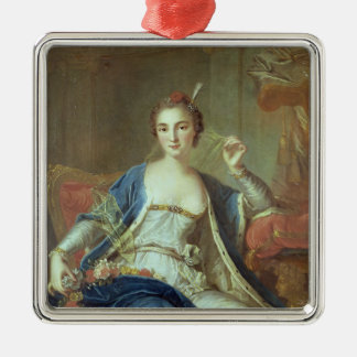 Portrait of Mademoiselle Marie Salle  1737 Silver-Colored Square Decoration