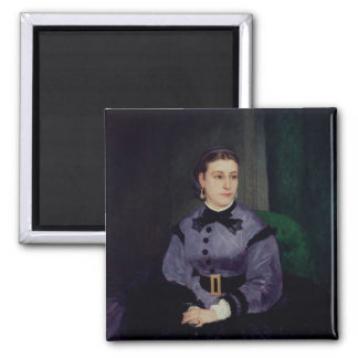 Portrait of Mademoiselle Sicot, 1865 Square Magnet