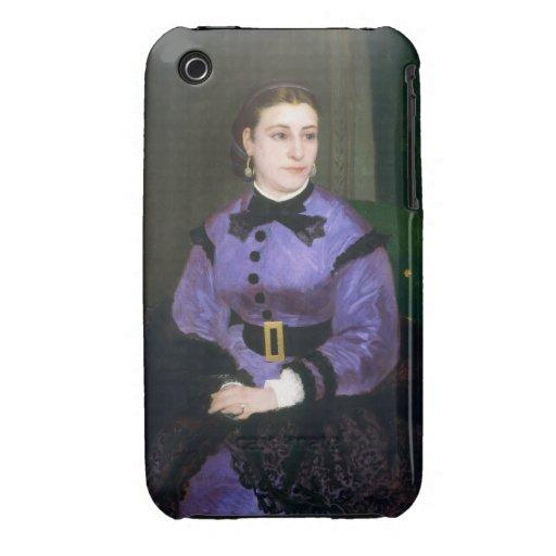 Portrait of Mademoiselle Sicot Auguste Renoir Case-Mate iPhone 3 Case