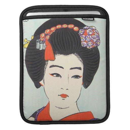 Portrait of Maiko Shunsen Natori japanese fine art iPad Sleeve