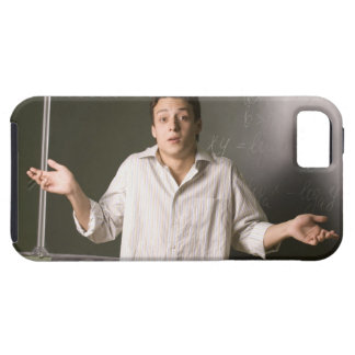 portrait of male student in front of blackboard case for the iPhone 5