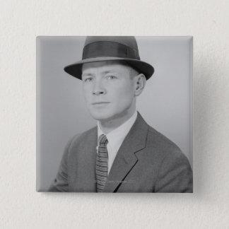 Portrait of Man 15 Cm Square Badge