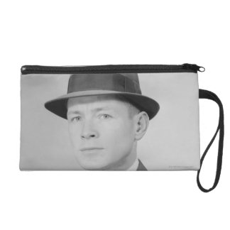 Portrait of Man Wristlet
